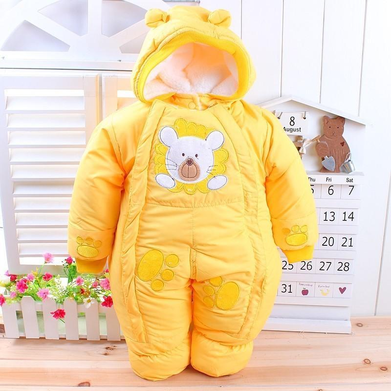Autumn & Winter Newborn Infant Baby Clothes Fleece Animal Style Clothing Romper Baby Clothes Cotton-padded Overalls CL0437 (1)