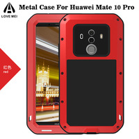 Love Mei Case For Huawei Mate 10 Pro Armor Aluminum Metal Shockproof Phone Case Cover For
