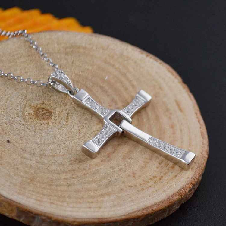 925 Sterling Silver Cross Pendant Chain