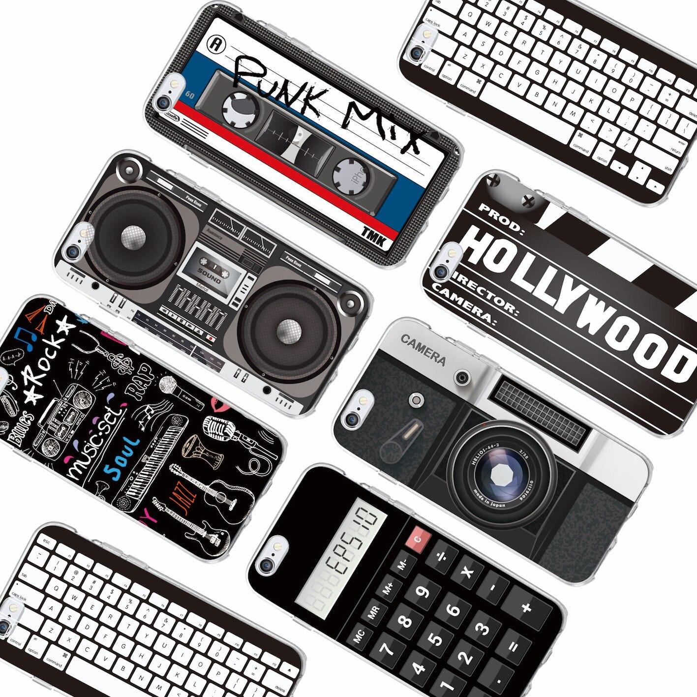 25a95101cb8 Retro Cámara Cassette cintas calculadora teclado suave funda de ...