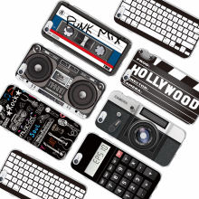 Retro Camera Cassette Tapes Calculator Keyboard Soft Phone Case Fundas For iPhone 6 6Plus 6S 7 7Plus 5 5S 8 8Plus X SAMSUNG S8(China)