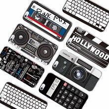 Retro Camera Cassette Tapes Calculator Keyboard Soft Phone Case for iPhone 6 6Plus 6S 7 7Plus 5 5S 8 8Plus X
