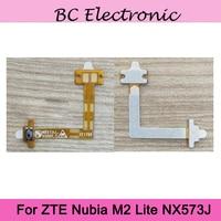 Zte nubia m2 lite nx573j 용 새 원본 전원 및 볼륨 플렉스 케이블 on off 버튼 볼륨 업 다운 컨트롤