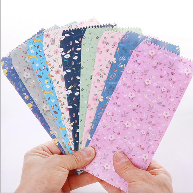 ⑥5pcs/lot Kawaii Small floral Paper Envelope writing paper ...