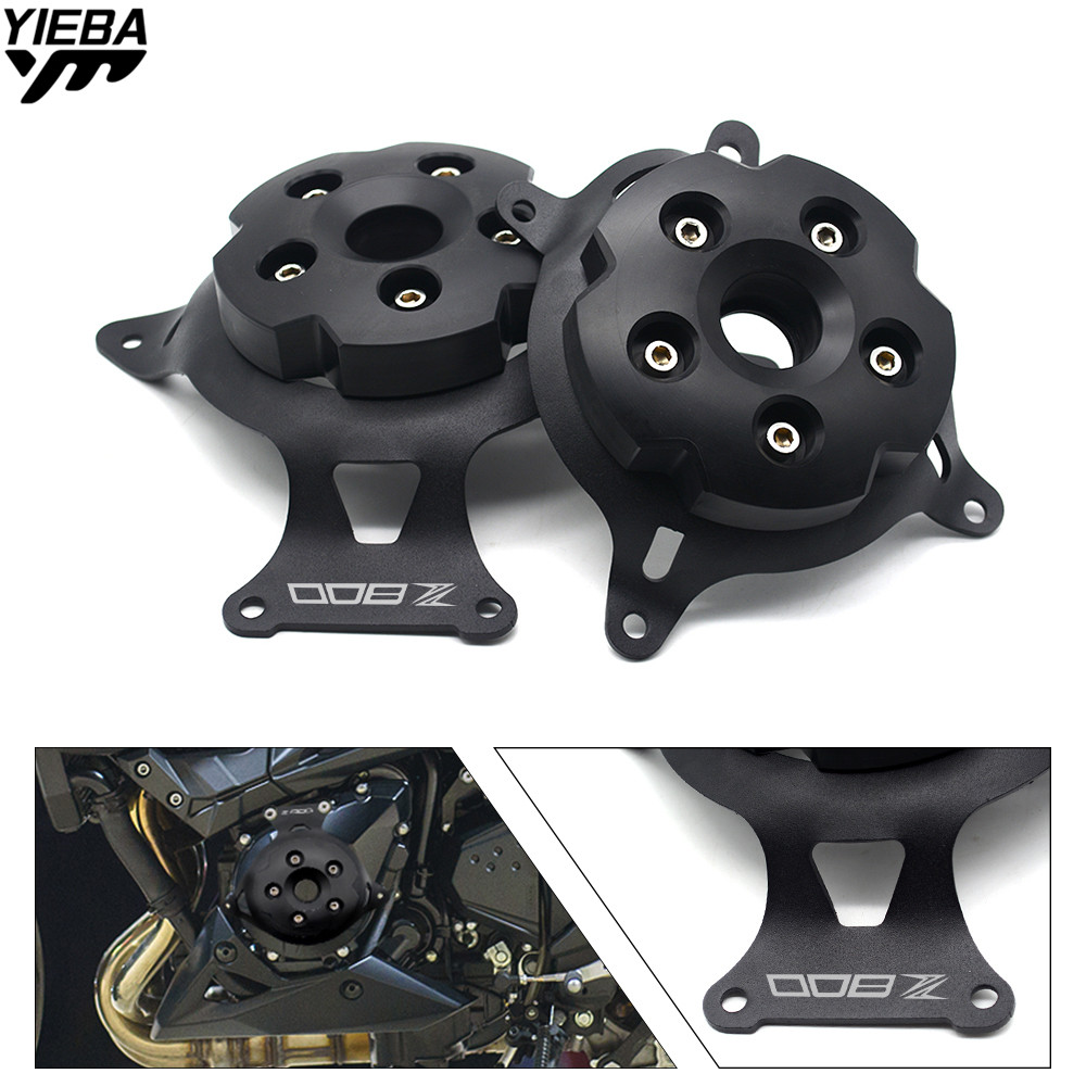 For Kawasaki Z750 Z800 2013 - 2017 Z 750 800 13-17 Motorcycle Engine Stator Cover Engine Guard Protection Side Shield Protector motorcycle cnc aluminum engine crankcase slider engine cover saver protection side shield for kawasaki z800 z750 2013 2016
