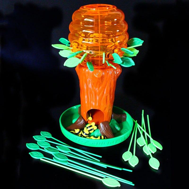 Pequena árvore de abelha interativo blocos de jogo de tabuleiro empilhamento pensamento formação festa da família brinquedo jogo de mesa presente das crianças