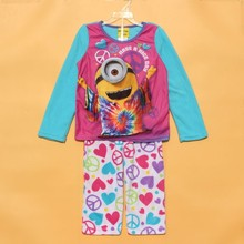 Children pajamas font b kids b font minions long sleeve pajamas set font b kids b