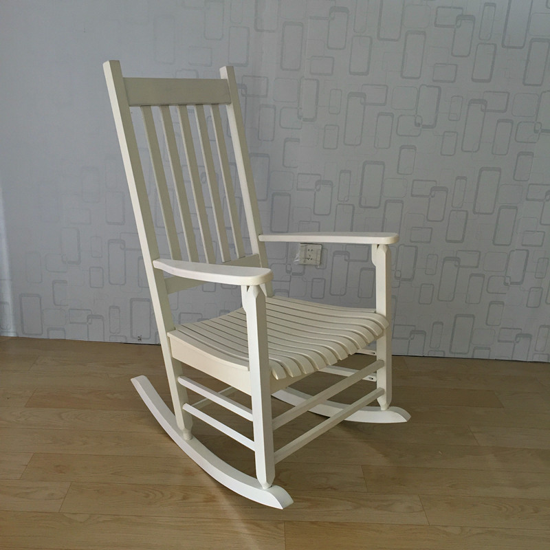 Rocking Chair Wood Presidential Rocker Lving Room Furniture Modern Style Adult Large Rocker Rocking Chair Indoor/Outdoor Design modern wood rocking chair wooden furniture presidential rocker white finish indoor outdoor balcony porch garden adult armchair