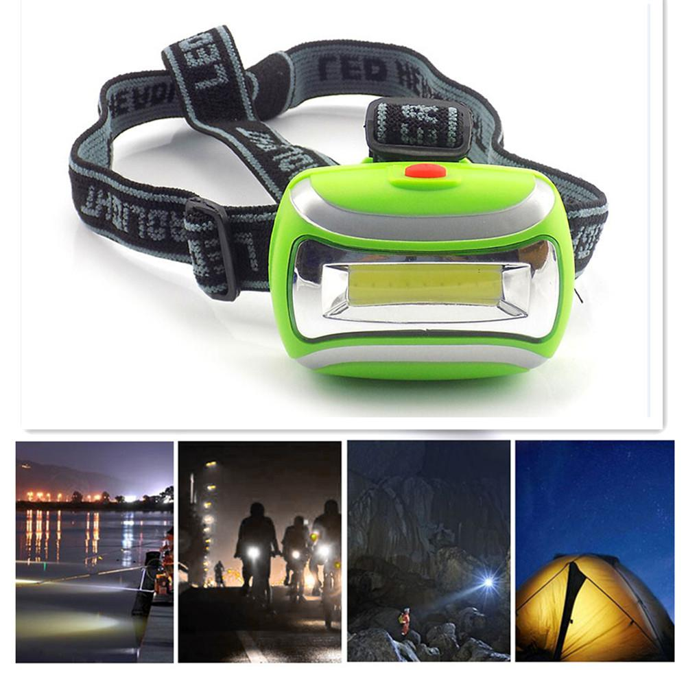 Headlights Bright LED 800LM 3W COB Strong Light Head Lamp Camping Light for Night Fishing Outdoor Activities