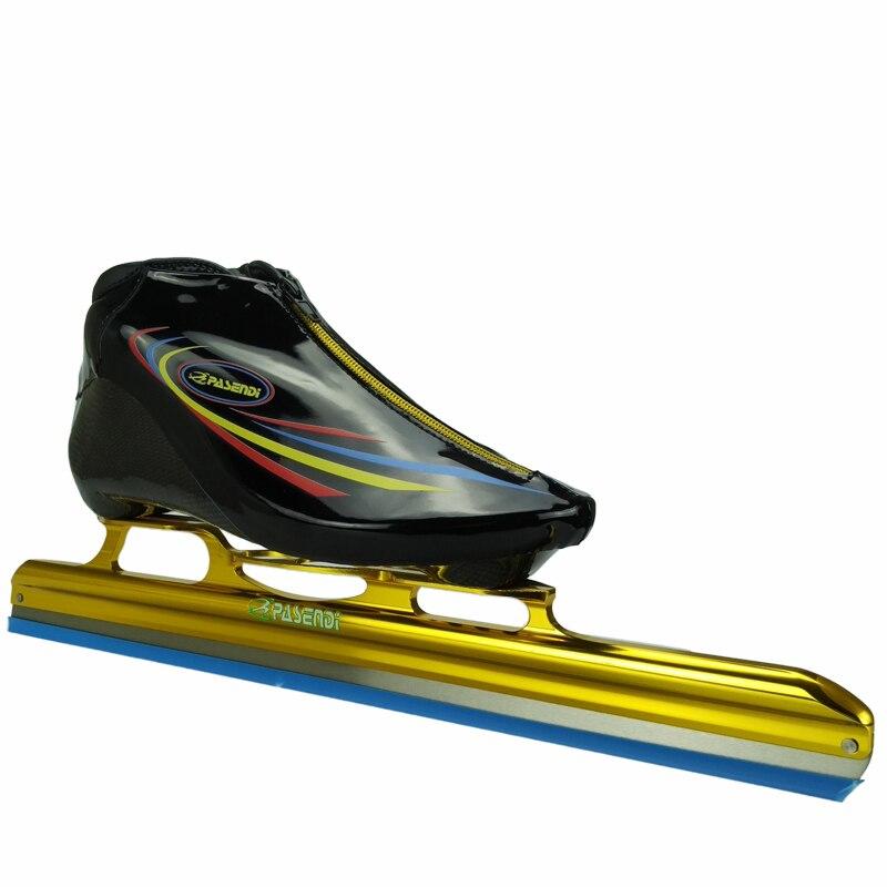 Prix pour PASENDI Professionnel Patins à roulettes Chaussures Adulte patins de hockey sur glace Nouveau Style Enfants glace lame Rouleau Inline Chaussures de Patinage De Vitesse