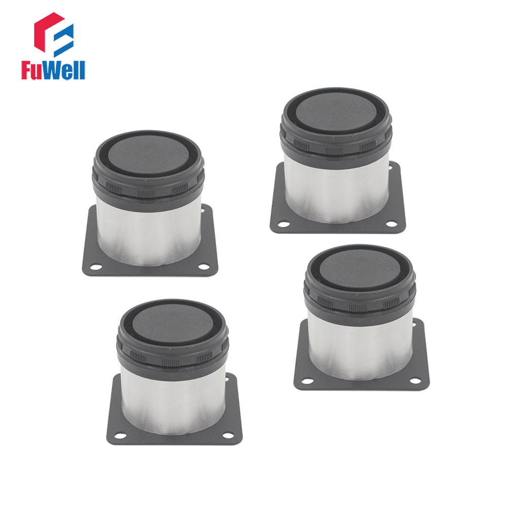 4pcs 80mm Height Adjustable 15mm Cabinet Feet Furniture Legs Silver Tone Stainless Steel Table Bed Sofa Leveling Foot bqlzr 80x85mm round silver black adjustable stainless steel plastic furniture legs sofa bed cupboard cabinet table bench feet