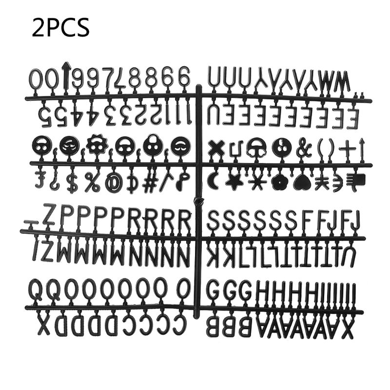2Ocs Characters For Felt Letter Board 340 Piece Numbers For Changeable Letter Board New Hot