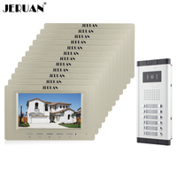 Wholesale Brand New Home Apartment Intercom System 12 Monitors Wired 7 Color HD Video Door Phone