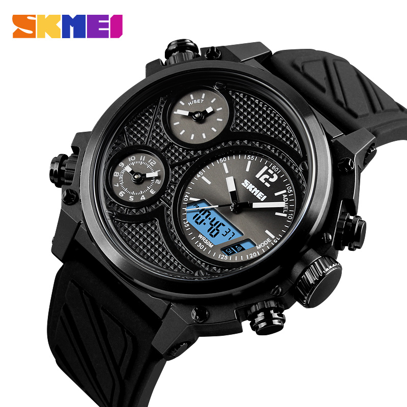 SKMEI Brand Sports Watches Mens Top Brand Luxury Waterproof Men Wrist Watch 5 Time Alarm Chronograph Military Wristwatches Clock wrist switzerland automatic mechanical men watch waterproof mens watches top brand luxury sapphire military reloj hombre b6036