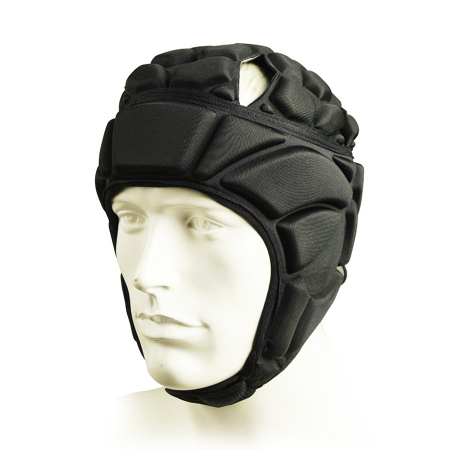 Profession Skateboard Football Soccer Goalkeeper Helmet Sports Rugby Scrum Cap Goalie Roller Hat Fiber Head Guard Protector