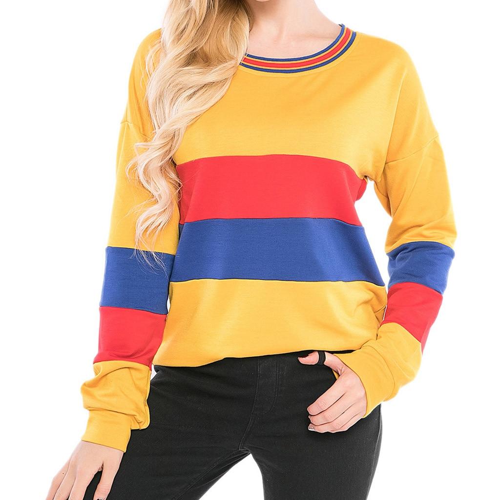 Nouveautés Mode t-shirt imprimé Femmes Bande Col Rond à manches longues chemise harajuku Week-End Streetwear t-shirt casual Top