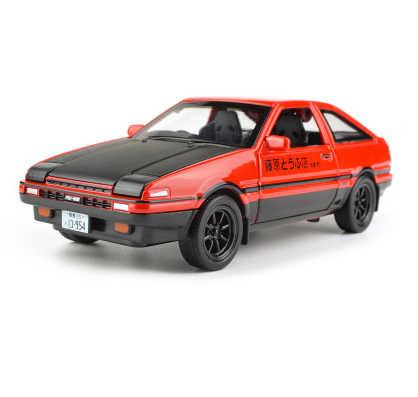1:28 Toyota Trueno AE86 литая под давлением модель автомобиля игрушка с инерционным механизмом со световым звуком для детей игрушки подарки Бесплатная доставка