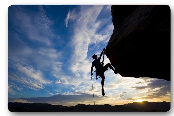 Custom Front Door Mat Climber Extreme Climbing Rock Anti Slip
