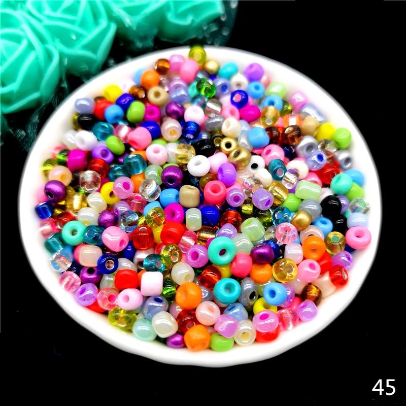 2 мм 3 мм 4 мм Чешский бисер хрустальный стеклянный бисер для изготовления ювелирных изделий серьги ожерелье браслет Подвески ручной работы сделай сам - Цвет: 45