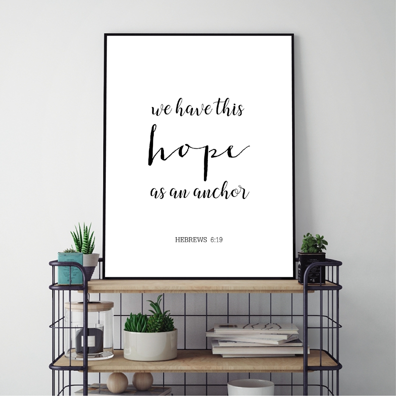 Verses Typography Picture Home Decor