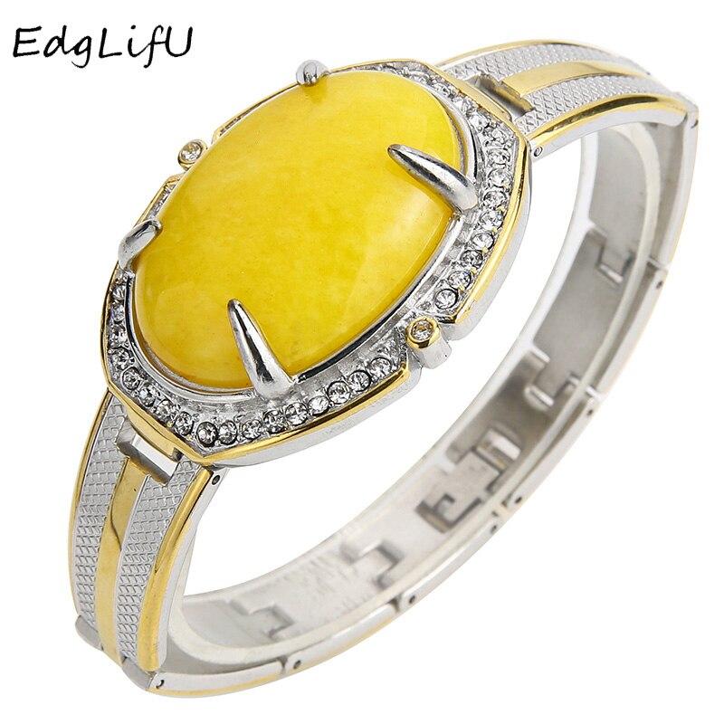 EdgLifU Hommes Bracelet de Montre Chaîne Réglage Big Pierre À la Main En Acier Inoxydable Cool Bracelet et Bracelets pour Hommes Taille bracelets Cadeau