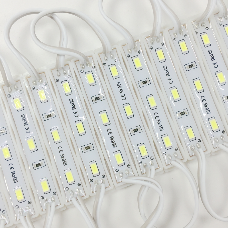 New Arrival 1000pcs High Brightness 5730 3 led module DC12V Waterproof IP66 Cool white for Signage Backlight
