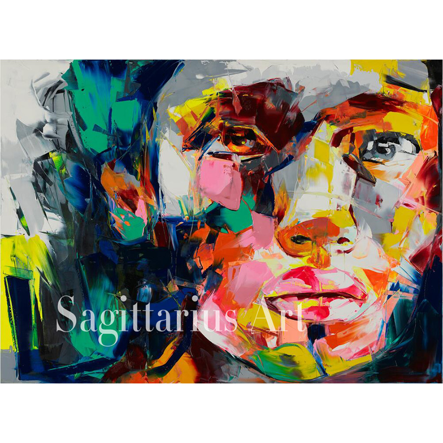 Hand Painted Palette knife Abstract Francoise Nielly Designer Untitled 595 Oil Painting Canvas Cool Face Bedroom Fine ArtworkHand Painted Palette knife Abstract Francoise Nielly Designer Untitled 595 Oil Painting Canvas Cool Face Bedroom Fine Artwork