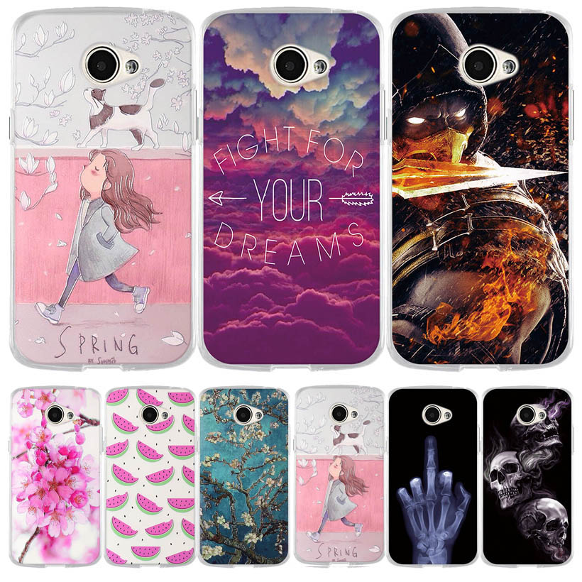 Phone Case for LG K5 Soft Silicone TPU Cute Painted Back Cover For LG K5 X220 <font><b>X220DS</b></font> 5.0