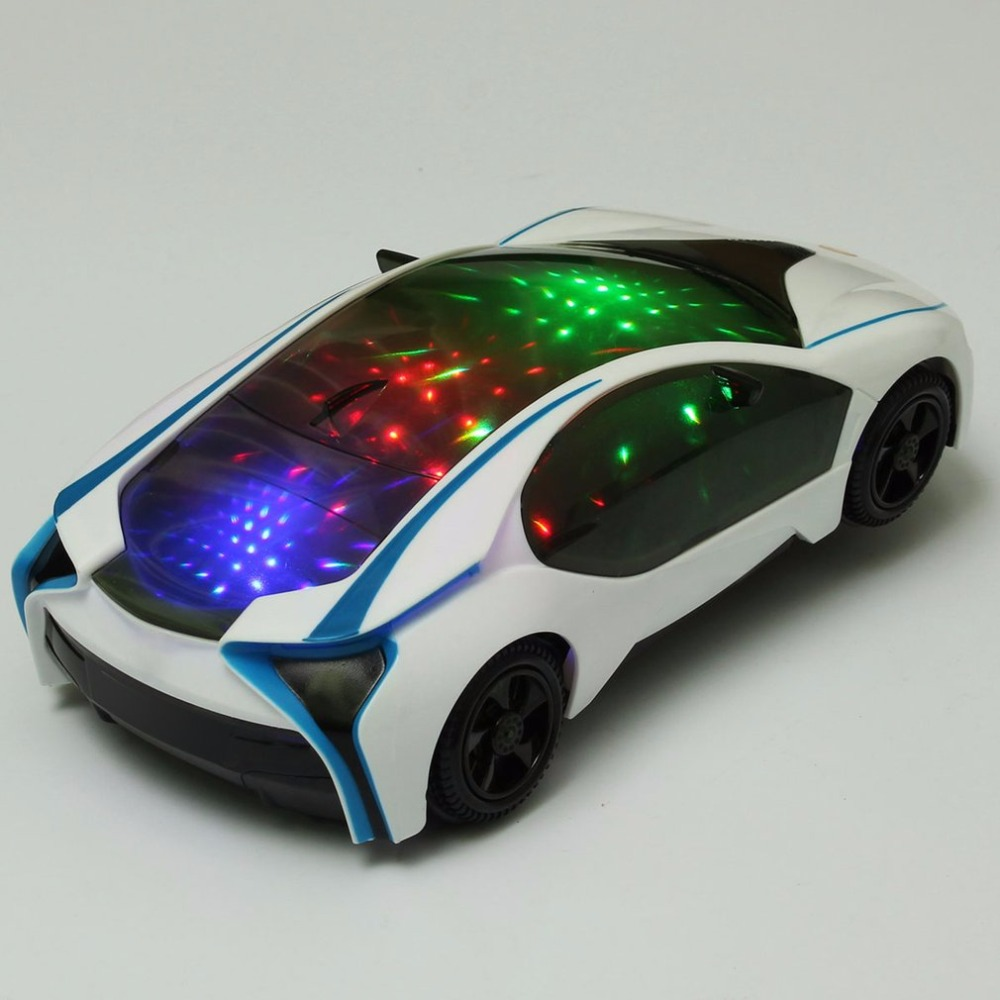 Kinderfahrzeuge New Cool Car Flashing LED Light Music Sound Electric Toy Cars Kids Children WV