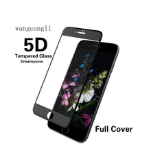5D Tempered Screen Protector glass on the For iPhone 6 7 8 6s glass 5D edge Full coverage for iPhone 6 7 8 Plus tempered film