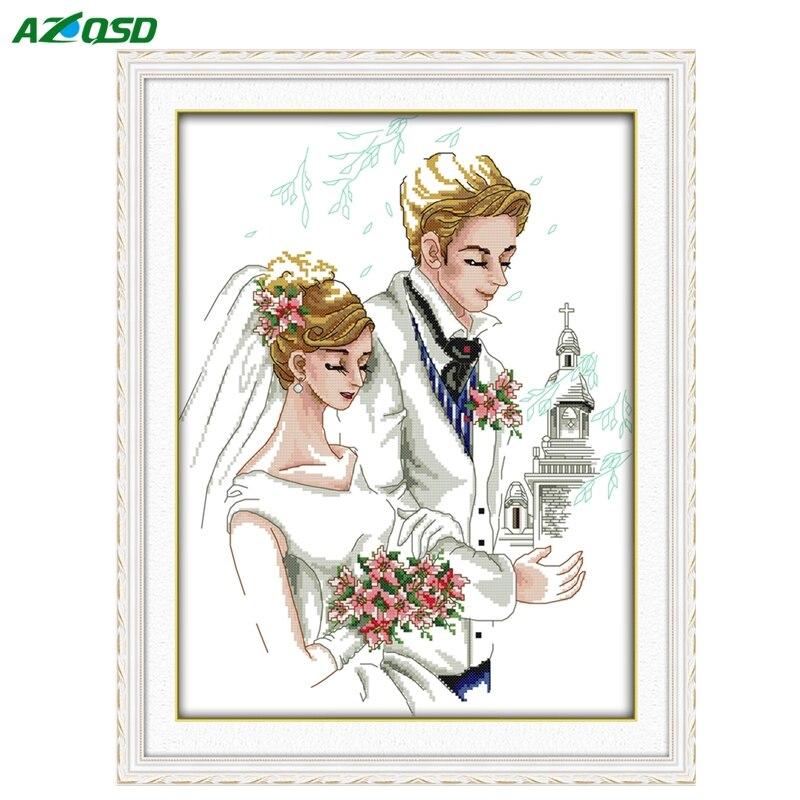 Набор вышивка крестом свадьба