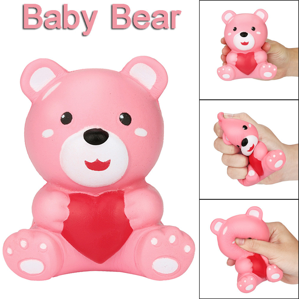 Squishy Kawaii Animals Cartoon Bread Baby Bear Slow Rising Cream Scented Toys Stress Reliever Squeeze Toy For Children Kids W517