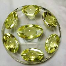Natural yellow crystal big wing dipper array treatment + crystal stand