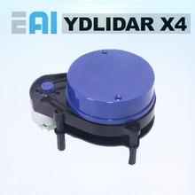 EAI escáner de Radar láser YDLIDAR X4, módulo de Sensor de rango de 10 metros, 5KHz, frecuencia de rango EAI YDLIDAR X4 para ROS