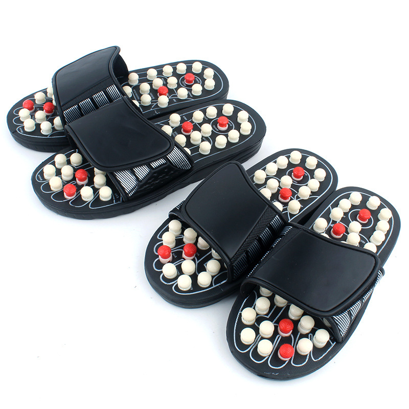 Acupoint Massage Slippers Sandal For Men Feet Chinese Acupressure Therapy Medical Rotating Foot Massager Shoes