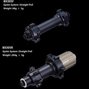 Image 2 - 1130g tylko zestaw kół rowerowych 700C z włókna węglowego koło rowerowe rurowe lub Clincher prosto Pull Hub i 4.3g mówił do Clmbing