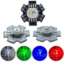 100 шт., 3 Вт, 4 Вт, RGB RGBW, красный, зеленый, синий, белый, 4, 6, 8 pin, светодиодный светильник с диодным чипом, часть лампы с 20 мм звездой для еды, светильник, точечный светильник