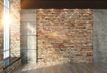 Laeacco Sunshine Window Brick Wall Interior Photography Backgrounds Fondos fotográficos personalizados para Photo Studio