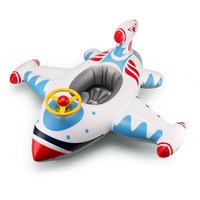 Baby Airplane Swimming Float Accessories Kids Swimming Ring Child Infltable Airplane Swim Ring Pool Seat Toddler Float Ring