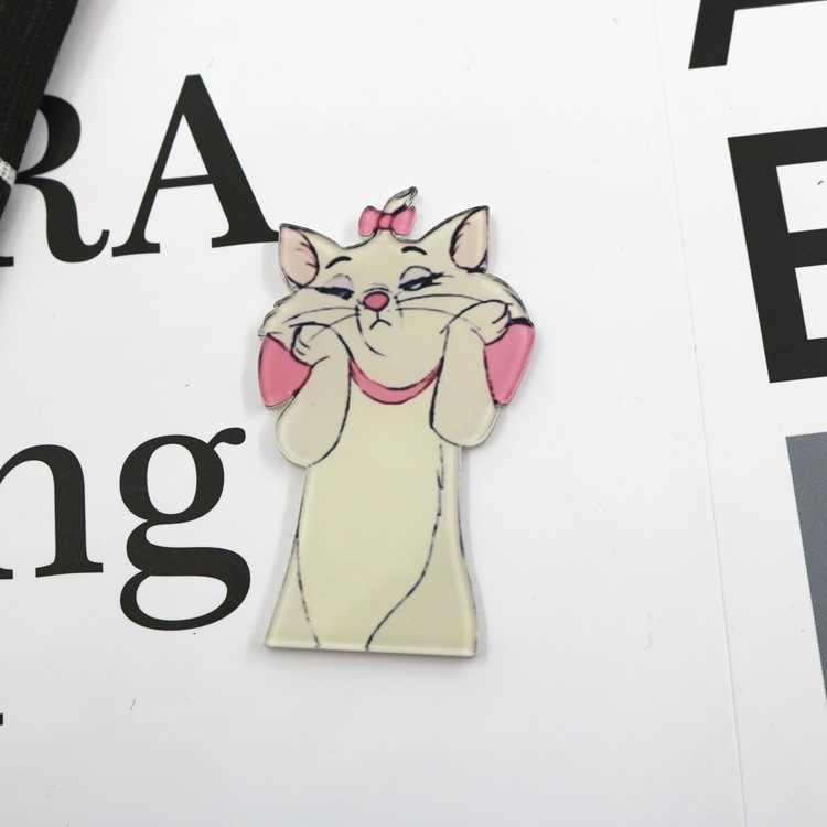 1 Pcs חמוד Cartoon תות מארי חתול שמש ורוד פנתר תגי תרמיל אקריליק תגי בגדי סמלים על תרמיל פין סיכה