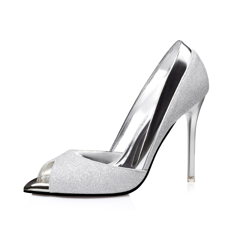 High Heels Glitter Sandals Spring Summer Style Women Pumps Ladies Shoes Open Peep Toe Gold Wedding Shoes Woman Bridal Tacones phyanic bling glitter high heels 2017 silver wedding shoes woman summer platform women sandals sexy casual pumps phy4901