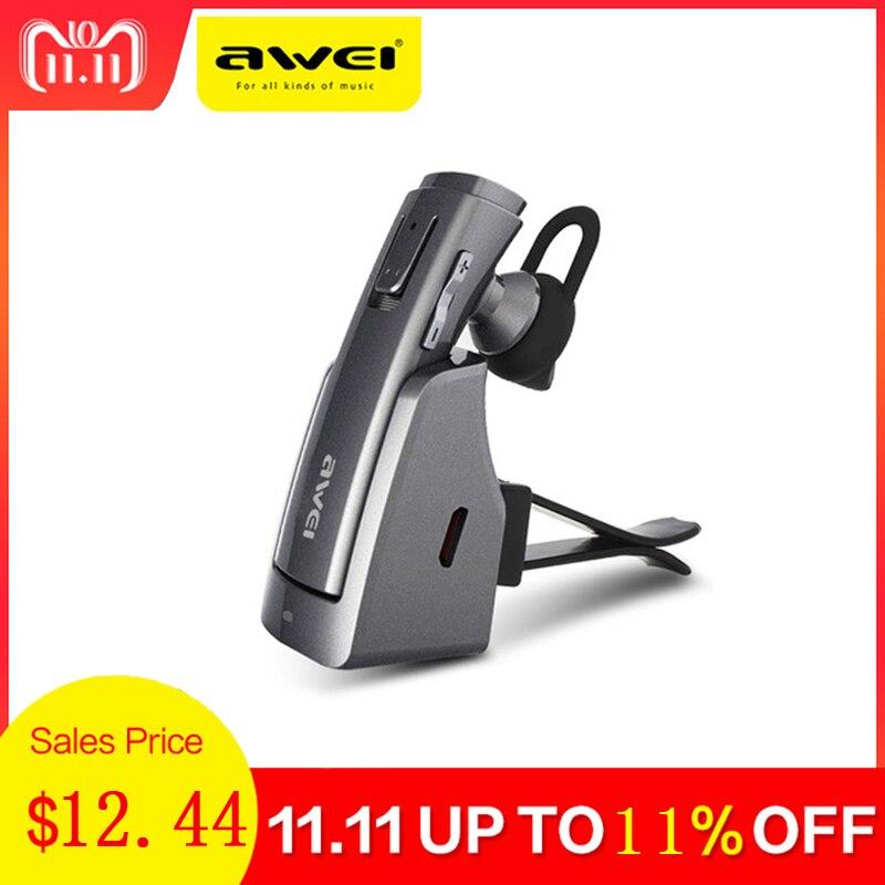 все цены на Awei Hands Free Car Handsfree Blutooth Earbud Wireless Headphone Auriculares Mini Bluetooth Headset Earphone For Phone iPhone