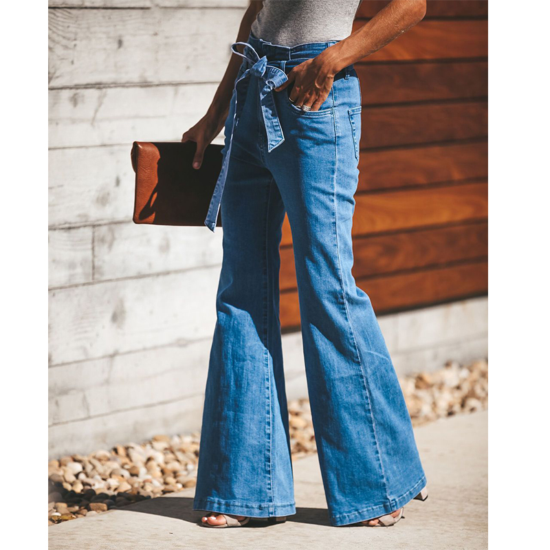 2019 Summer Winter High Waist Flare Jeans Boyfriend Jeans For Women Bell Bottom Denim Skinny Jeans Woman Female Wide Leg Pants