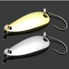 Metal Spinner Spoon Fishing Lure Hard Baits Sequins bait Paillette Pesca Tackle bass carp fish sea salt fresh water sharp hooks