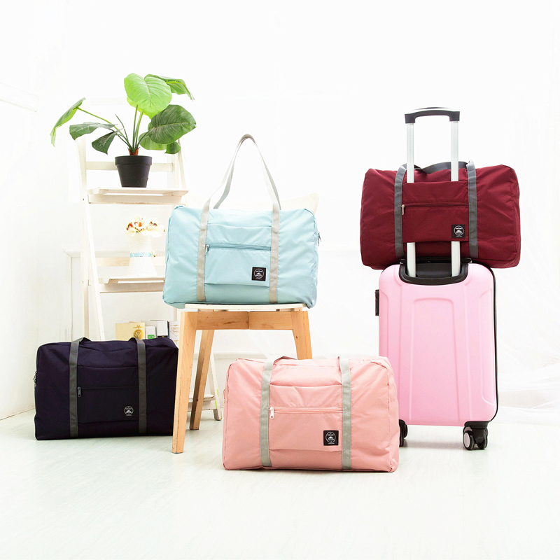 Travel-Bags Packing-Cubes Luggage Nylon Foldable Large-Capacity Aircraft-Package Women