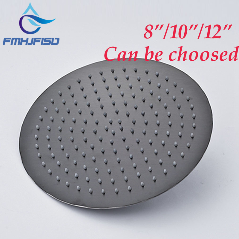 Free Shipping Black Titanium Round Rain Ceiling / Wall Mounted Shower Head For 8 /10 /12
