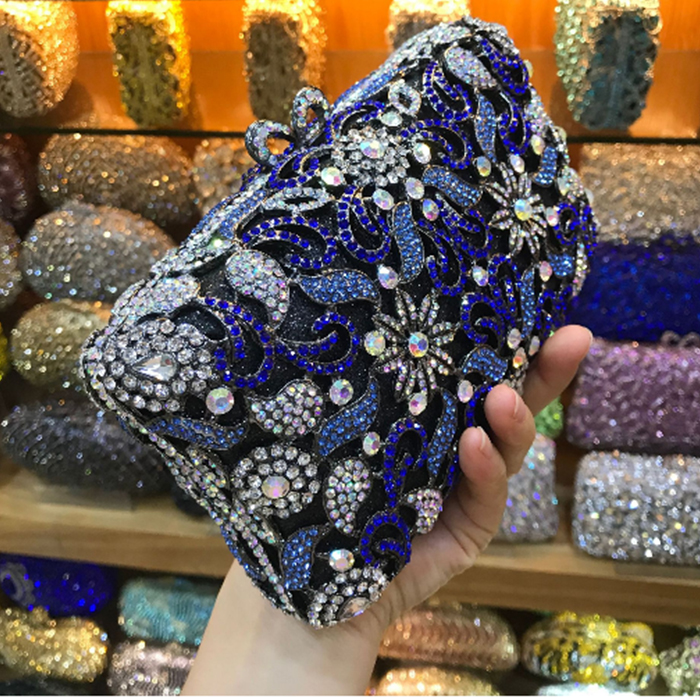 Femmes Same Luxe Bleu Soirée Pictur Color D'embrayage Dames As Sacs Nuit Jour color Nouvelles Mini De Parti Or Embrayages Mariage Dîner Pictur Fleur Cristal Bourse dfBqWWRwE