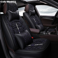 CAR TRAVEL flax Universal Car Seat Cover for Ford all models focus fiesta mondeo s max explorer ecosport car styling accessories