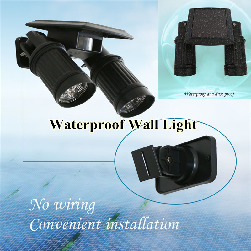 Solar Spotlight 14LEDs Solar Light Wall Light PIR Motion Sensor Lamp Path Garden Yard Outdoor Adjustable Waterproof Wall Light