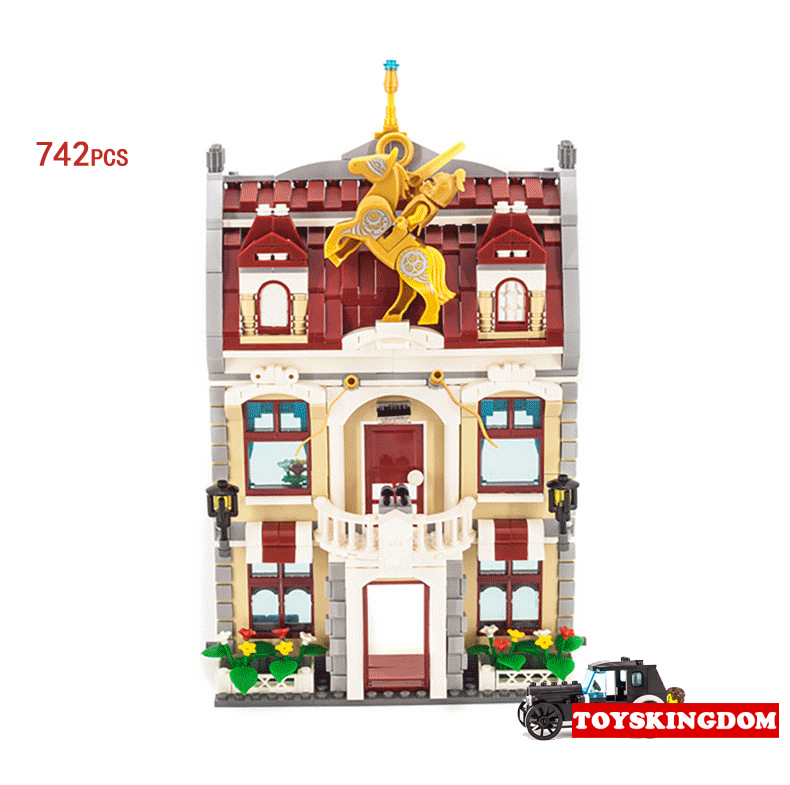 City street view scene City Hall building block Mayor assistant Reporter figures Vintage car bricks enlighten toys for kids city street view scene city hall building block mini mayor assistant reporter figures vintage car bricks enlighten toys for kids